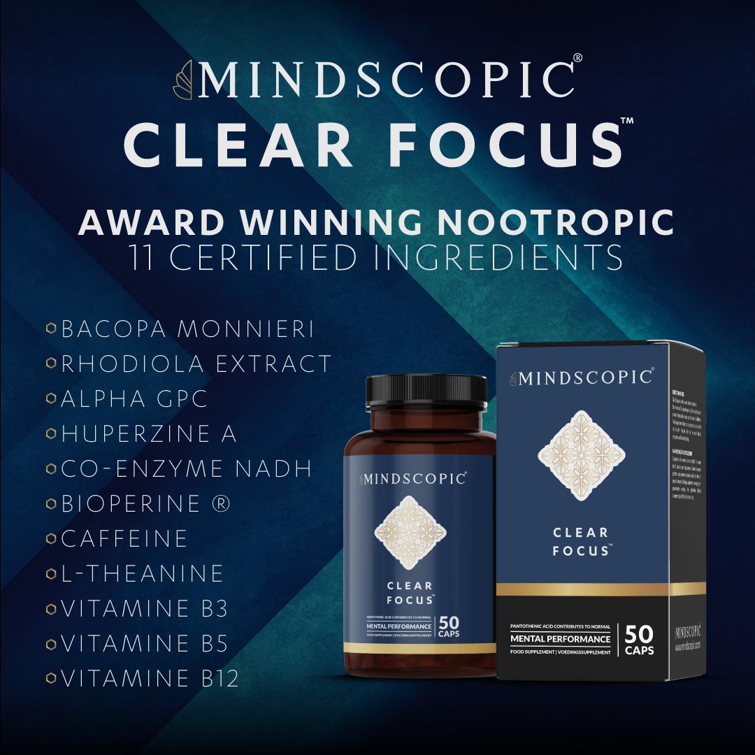 optimaliseer je lichaam en geest met clear focus van mindscopic