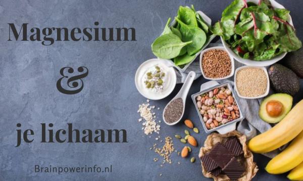 Ontdek wat magnesium (en een tekort) met ons lichaam doet